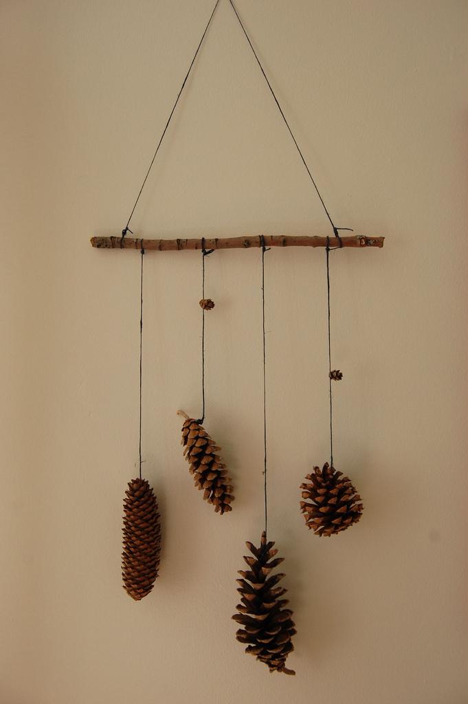 Pine cone mobile... - Handmade Mom